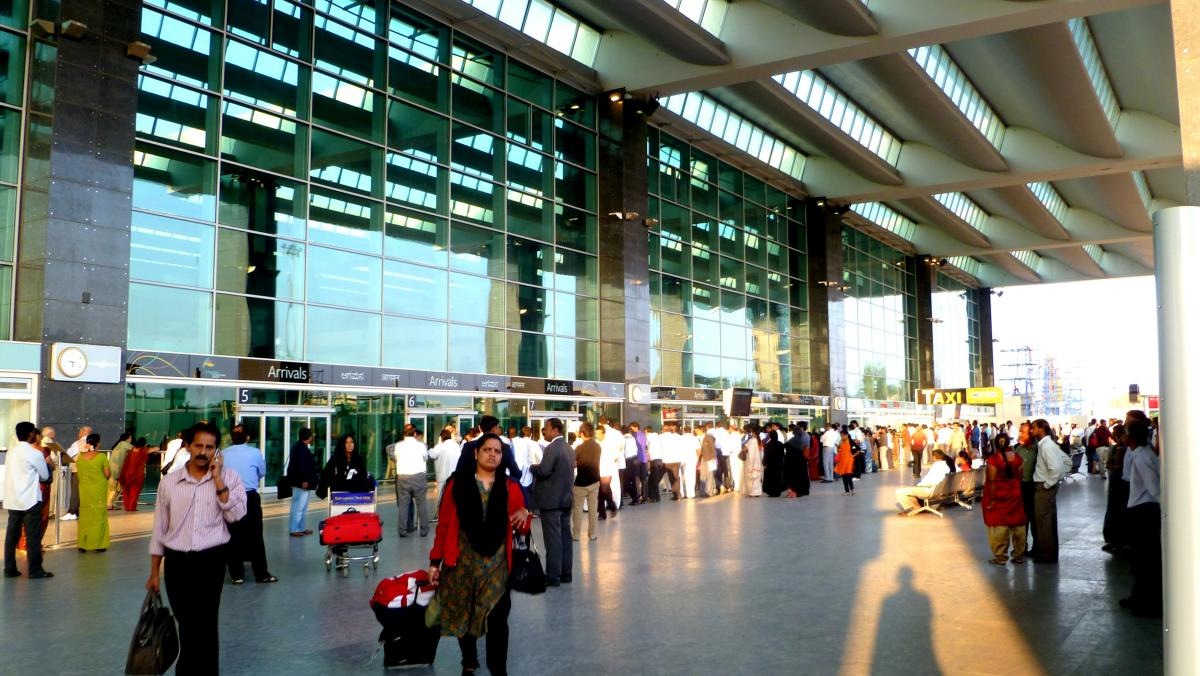 The Bangalore International Airport terminal, now powered by solar energy. Photo by Herry Lawford/Flickr