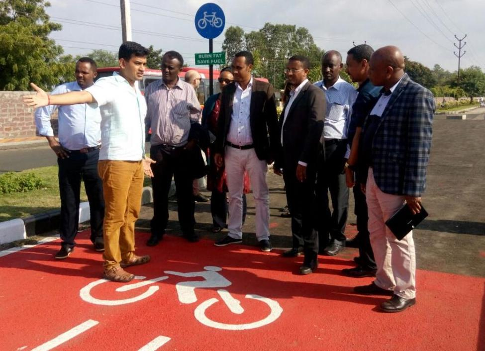 Visit to Bhopal's new cycle track under construction