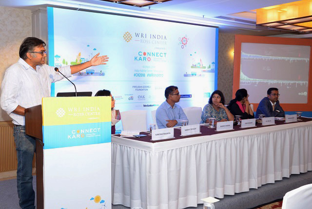"""We can achieve low carbon, net zero energy buildings in India through strong political will,"" says Tanmay Tathagat, Environmental Design Solutions at Connect Karo 2018. Photo by WRI India"