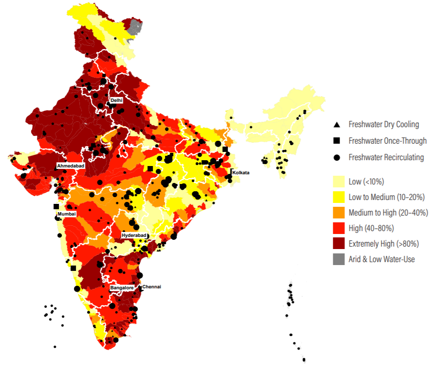 India's freshwater cooled thermal utilities