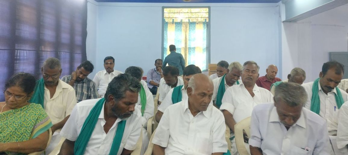 Meeting with farmer federation members, Tamil Nadu