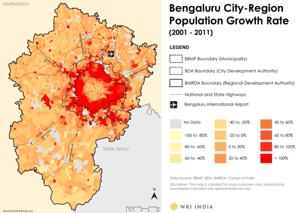 Bengaluru City-Region Growth Rate