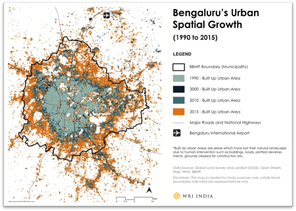 Bengaluru's Urban Spatial Growth