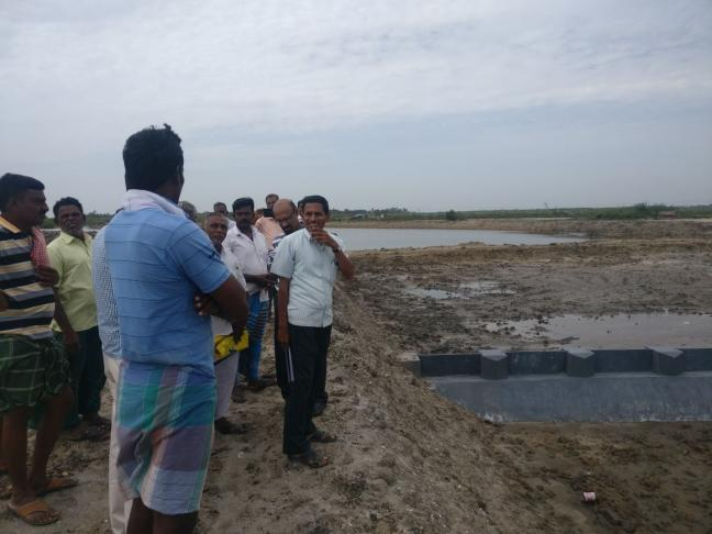 Construction of weir and water bed in Cuddalore, Tamil Nadu