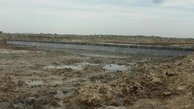 Adaptation to coastal salinity: Construction of weir and water beds, Cuddalore, Tamil Nadu