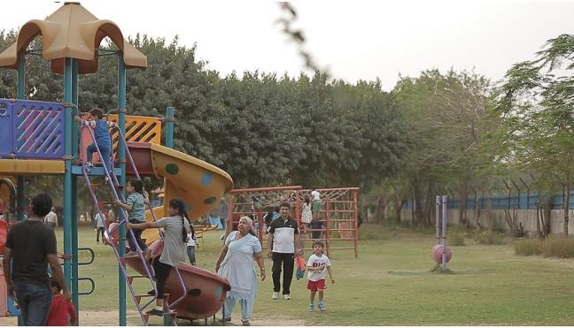 A community park in Delhi, India