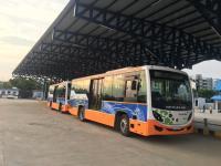 Public bus fleet in Ahmedabad, Gujarat. Photo: Neha Yadav/WRI India