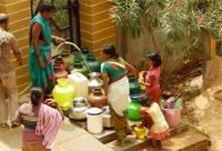 Achieving the SDGs can help India meet its urban water demand, strengthen urban resilience, and mitigate the impacts of unplanned urbanization and climate change. Photo by reddees/shutterstock.