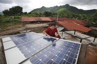 Solar panels in Tinginaput, India. Photo by Abbie Trayler-Smith (DFID)/Flickr.