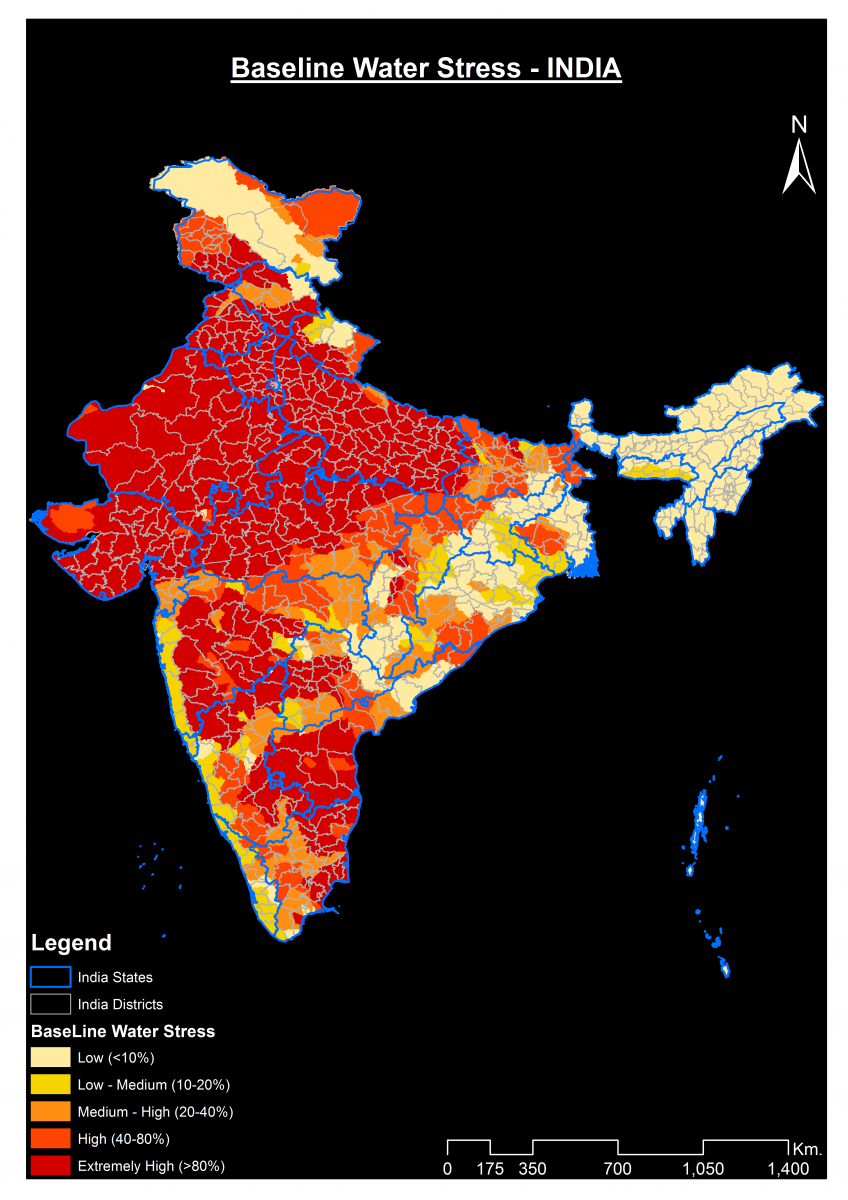 Baseline Water Stress - INDIA