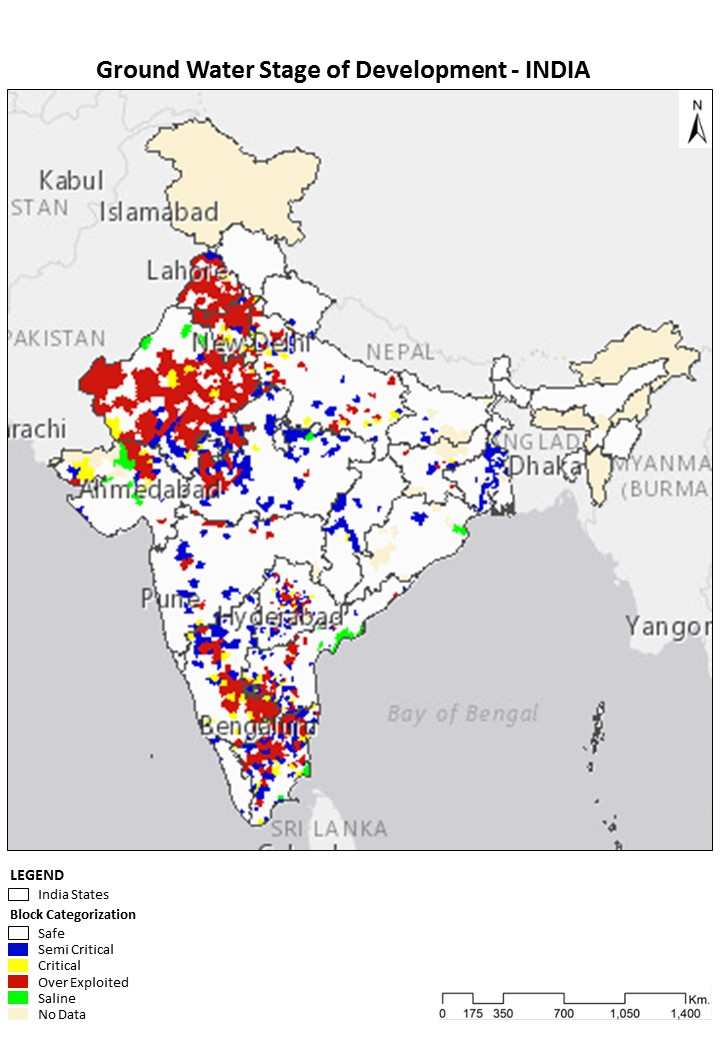 Ground Water Stage of Development - INDIA