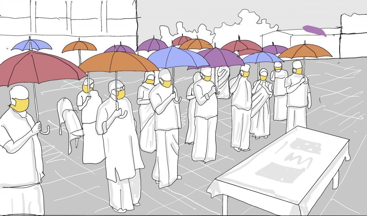 Initiatives like 'Break the Chain Umbrella' project by the Thanneermukkom grama panchayat in Alappuzha